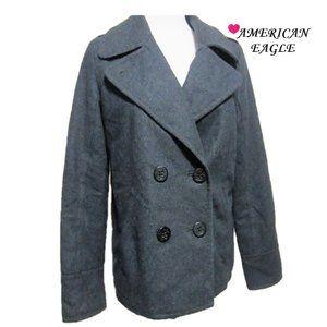 WOMENS AMERICAN EAGLE, SZ M HEAVY WOOL BLEND COAT